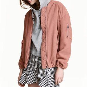 H&M Blush Pink Bomber Jacket